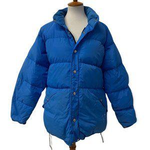 Gerry VTG 70's Puffer Jacket Blue Goose Down Zip Up USA Made Mens Size XL